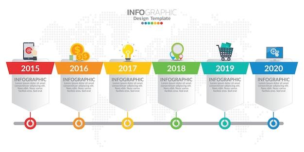 Infografik-elemente für inhalt, diagramm, flussdiagramm, schritte, teile, zeitachse, workflow, diagramm. Premium Vektoren