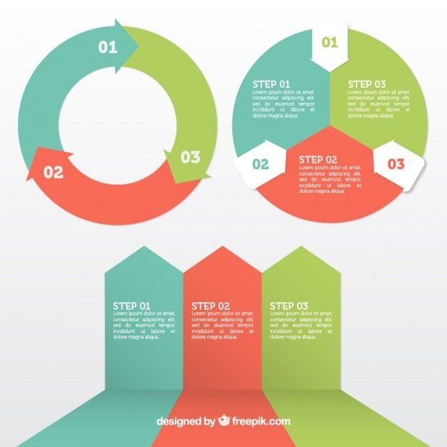 Infografik-Elemente gesetzt Kostenlose Vektoren