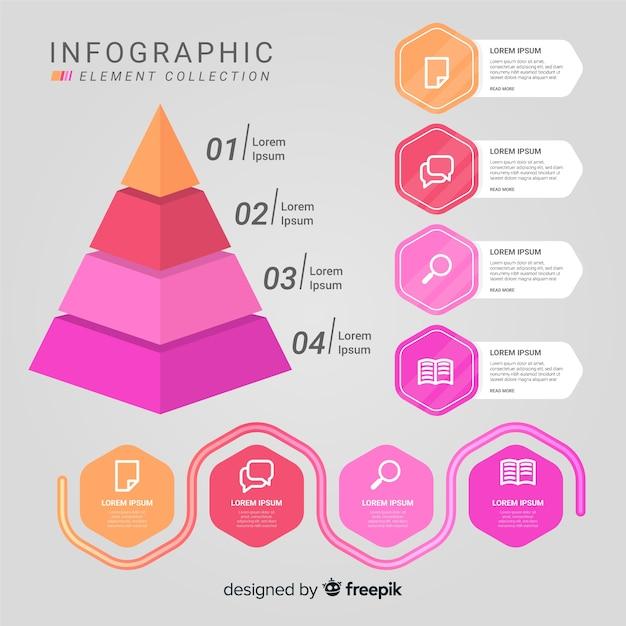 Infografik-elementsammlung Kostenlosen Vektoren