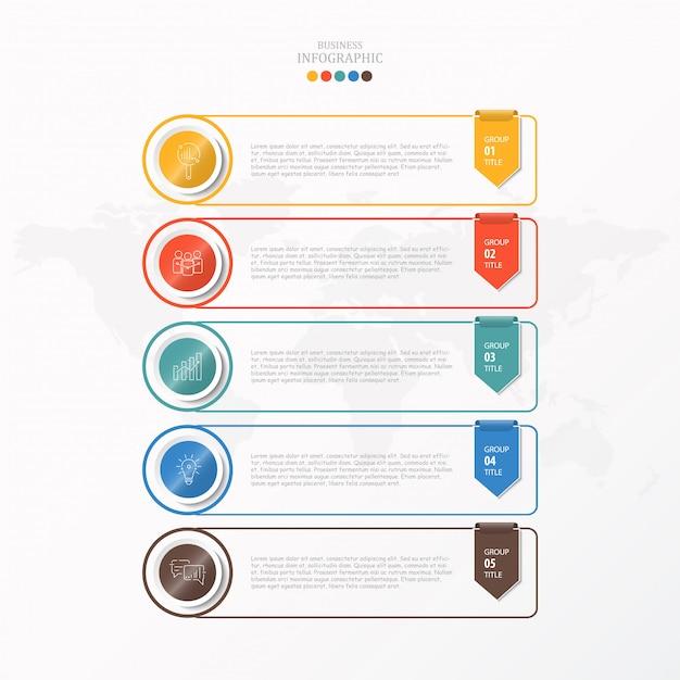 Infografik für unternehmen Premium Vektoren