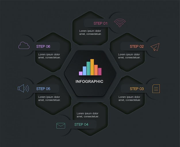 Infografik, illustration mit textfeld Premium Vektoren