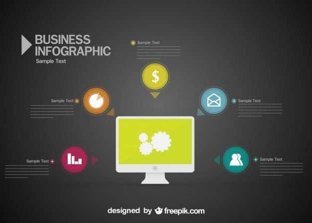 Infografik kostenlosen vektor Kostenlosen Vektoren