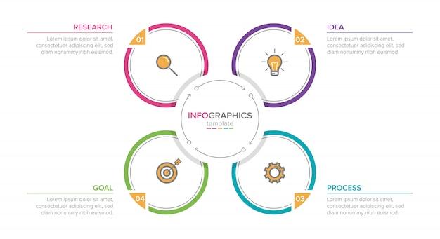 Infografik mit aufeinanderfolgenden schritten Premium Vektoren