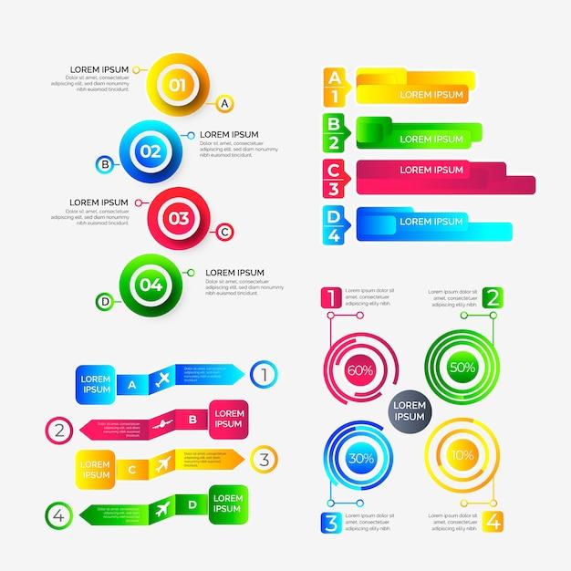Infografik mit farbverlauf Kostenlosen Vektoren