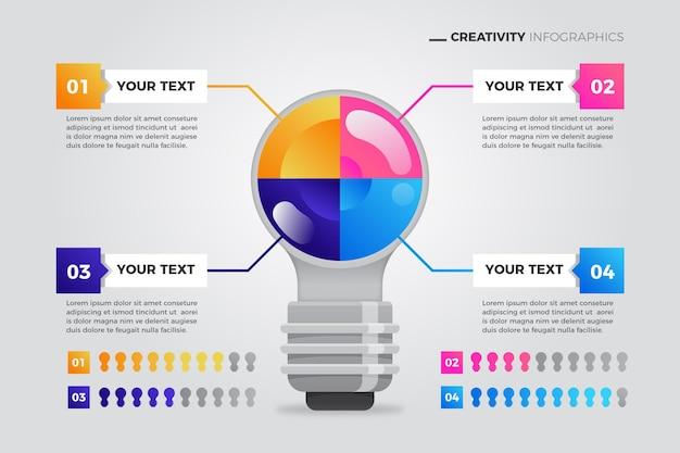 Infografik mit kreativer farbverlaufskreativität Premium Vektoren