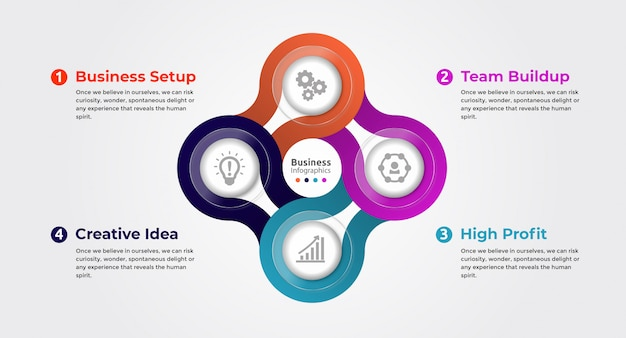 Infografik-optionen Premium Vektoren