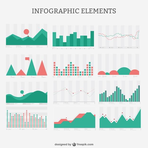 Infografik retro-stil-pack Kostenlosen Vektoren