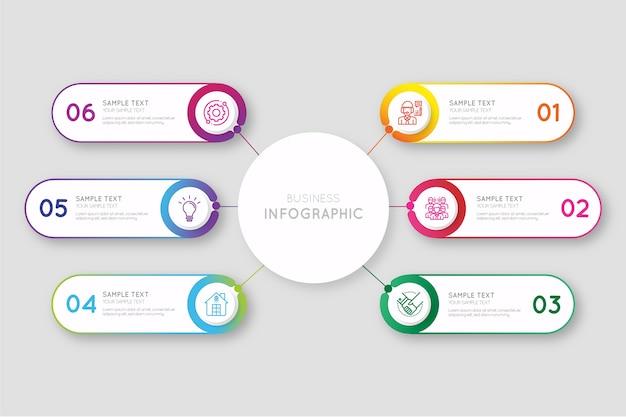 Infografik-sammlung mit farbverlauf Kostenlosen Vektoren
