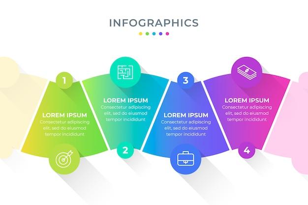 Infografik schritt sammlung vorlage Kostenlosen Vektoren