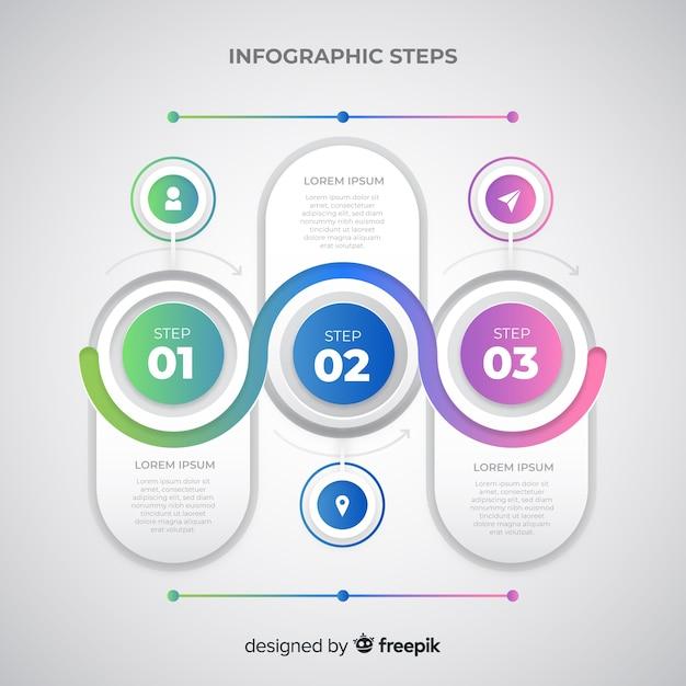 Infografik-schritte Kostenlosen Vektoren