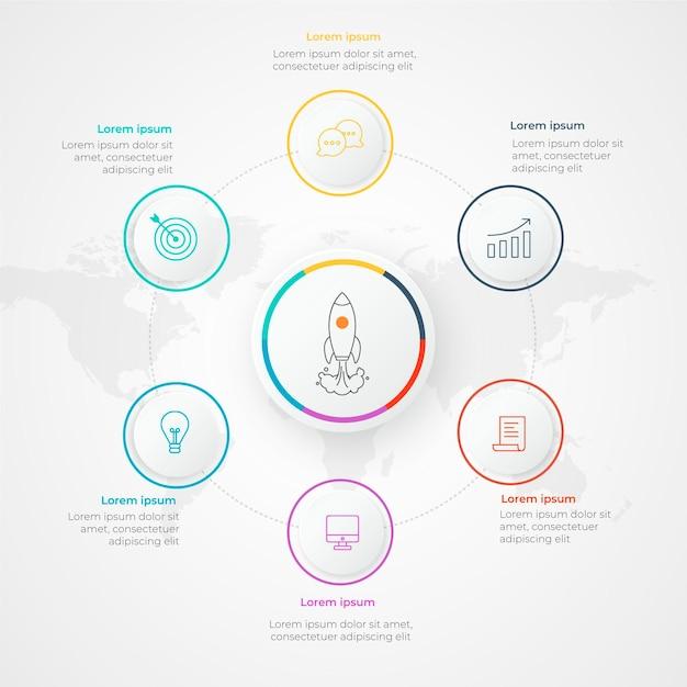Infografik-startvorlage Kostenlosen Vektoren
