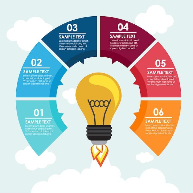 Infografik Template-Design Kostenlose Vektoren