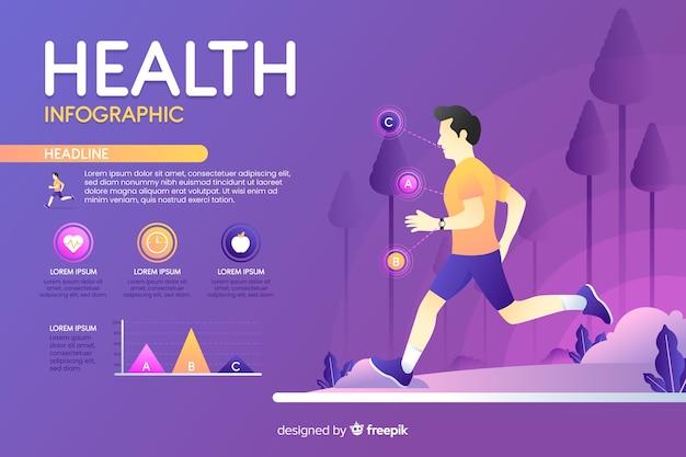 Infografik über gesundheit flaches design Kostenlosen Vektoren