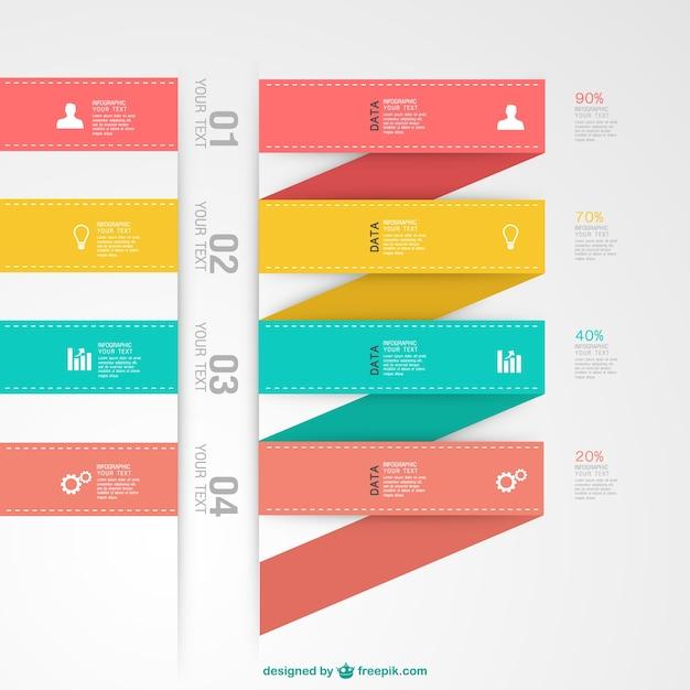 Infografik vektor-label-elemente Kostenlosen Vektoren