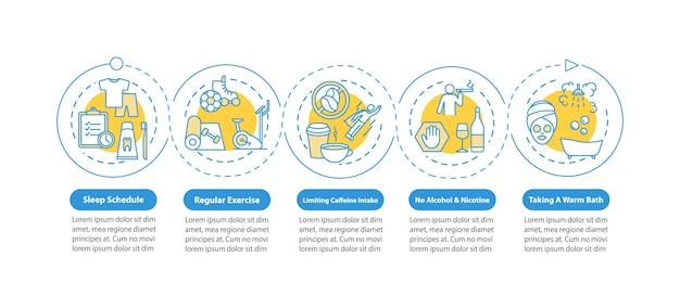 Infografik-vorlage für den schlafplan Premium Vektoren