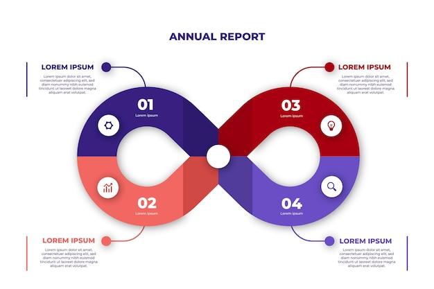 Infografik-vorlage für endlosschleife Kostenlosen Vektoren
