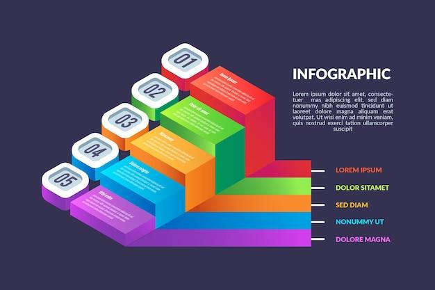 Infografik-vorlage für isometrisches design Kostenlosen Vektoren