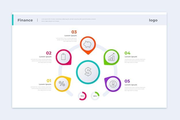 Infografik-vorlage für unternehmensfinanzierung Kostenlosen Vektoren