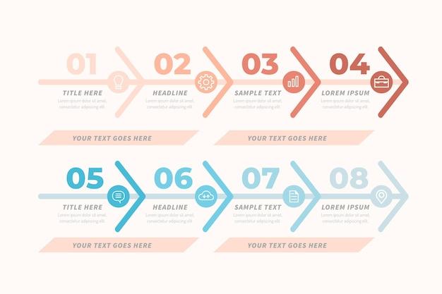 Infografik-vorlage für wertschöpfungskettendiagramme Kostenlosen Vektoren