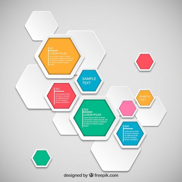Infografik Vorlage Hexagon | Download der kostenlosen Vektor