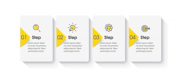Infografik vorlage mit schritten Premium Vektoren