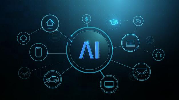Infografik vorlage mit symbolen, intelligente technologien Premium Vektoren