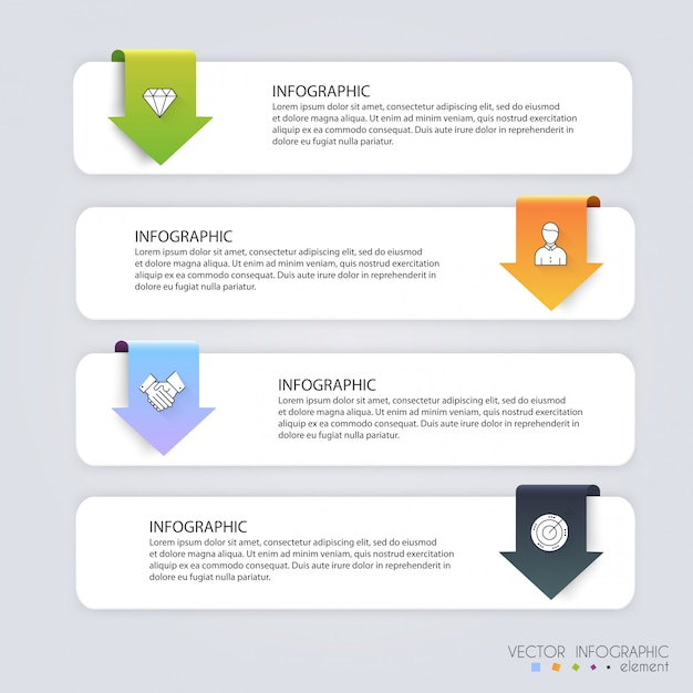 Infografik-vorlagen für unternehmen. Premium Vektoren