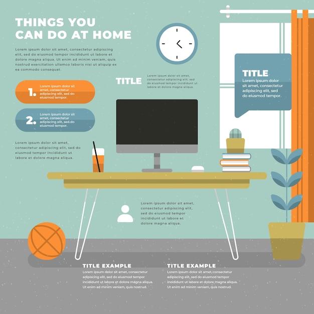 Infografik zu hause bleiben Kostenlosen Vektoren