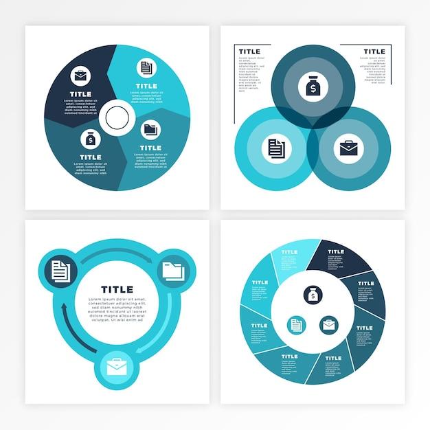 Infografik zum projektlebenszyklus Premium Vektoren