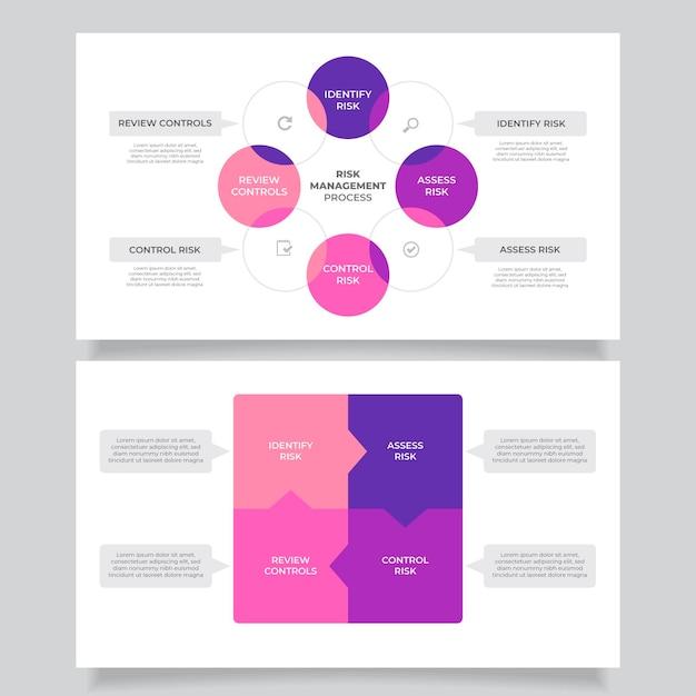 Infografik zum risikomanagement Kostenlosen Vektoren