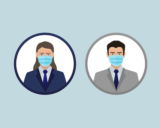 Infografik zur coronavirus-pandemie. gesichtsverschmutzungsmaske. coronavirus quarantäne. medizinisches maskensymbol. coronavirus prävention. coronavirus schutz . Premium Vektoren