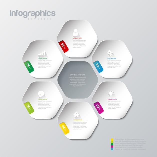 Infografiken design vektor vorlage mehrfarbige vorlage infografik hintergrund konzepte sammlung Kostenlosen Vektoren