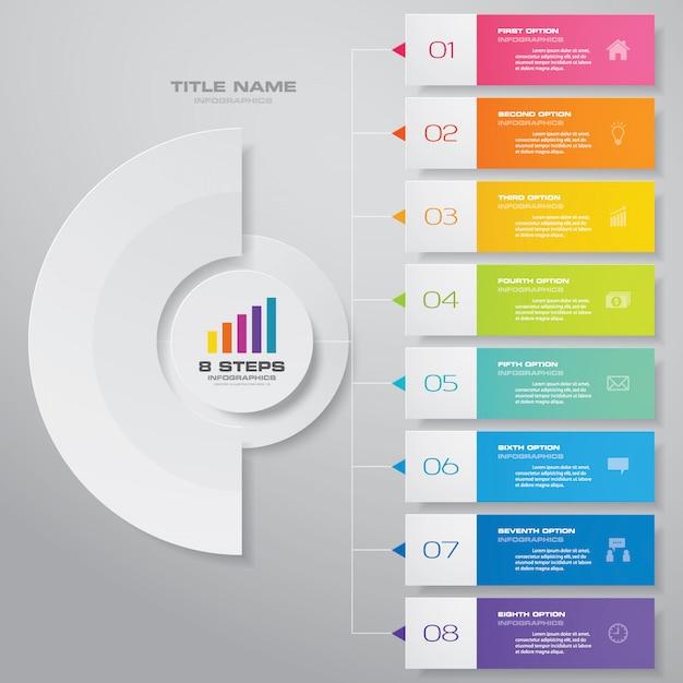 Infografiken diagramm gestaltungselement Premium Vektoren