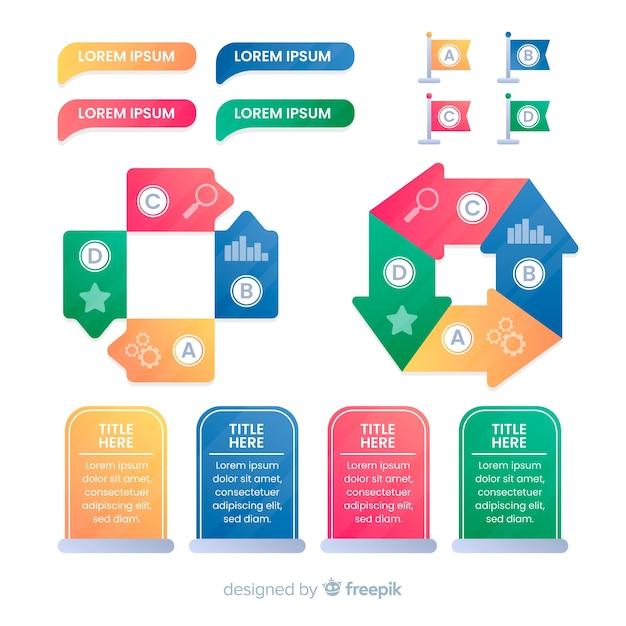 Infografiken element collectio Kostenlosen Vektoren