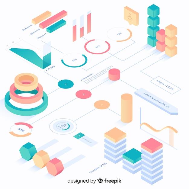 Infografiken elementsammlung Kostenlosen Vektoren
