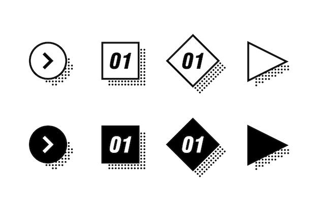 Infografiken elementsatz Premium Vektoren