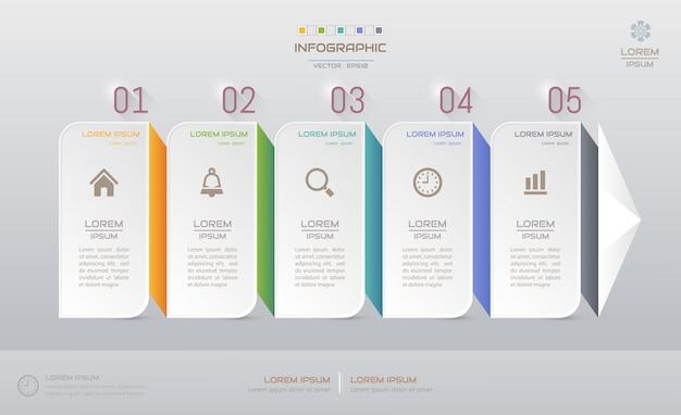 Infografiken entwurfsvorlage mit symbolen Premium Vektoren