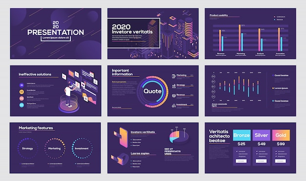 Infografiken folienvorlage Premium Vektoren