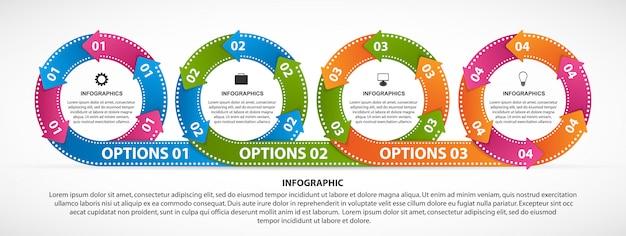 Infografiken für business-präsentation Premium Vektoren