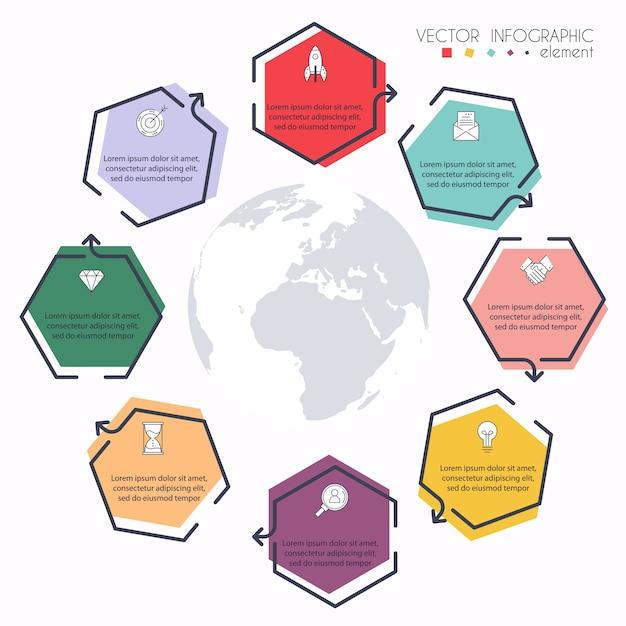 Infografiken für ihre geschäftspräsentationen. kann für website-layout, nummerierte banner, diagramme, horizontale ausschnittlinien, web verwendet werden. Premium Vektoren