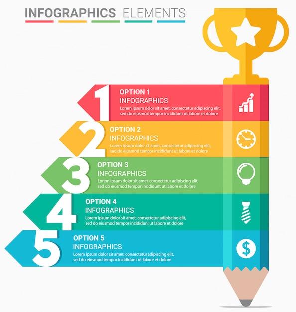 Infografiken geschäftstreppe Premium Vektoren