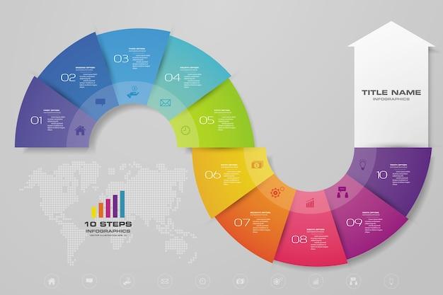 Infografiken pfeil diagramm element Premium Vektoren