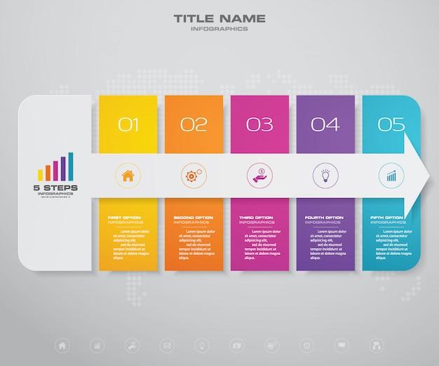 Infografiken pfeil diagramm gestaltungselement. Premium Vektoren