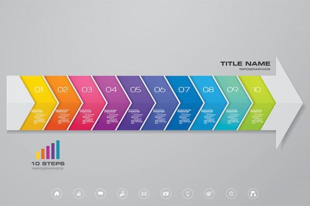 Infografiken pfeil diagrammelement. Premium Vektoren