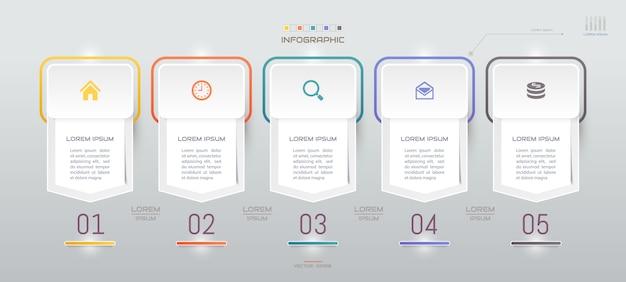 Infografiken vorlage mit symbolen Premium Vektoren