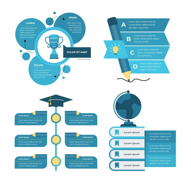 Infografiken zur gradientenbildung Premium Vektoren