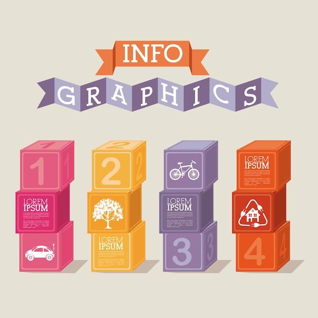 Infografiken Premium Vektoren