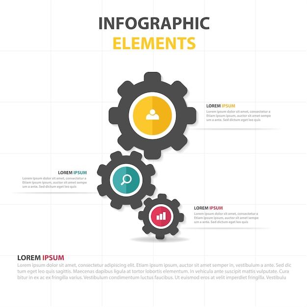 Infografische business-vorlage mit gang Kostenlosen Vektoren