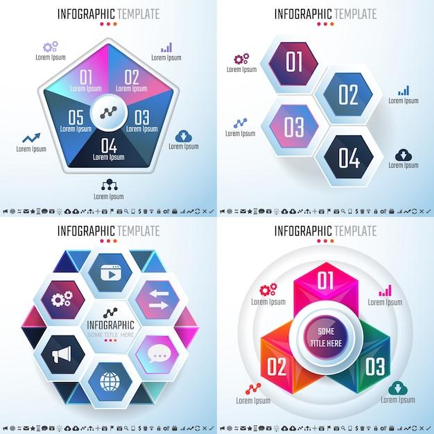 Infografische designvorlage Kostenlosen Vektoren