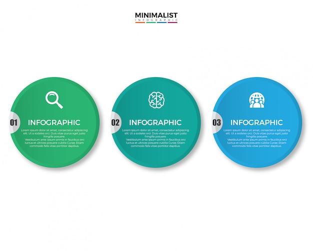 Infographic design des bunten modernen geschäfts Premium Vektoren